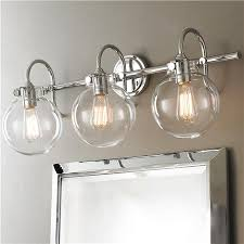 vintage bathroom lighting. Amazing Vintage Bathroom Vanity Lights Retro Glass Globe Bath Light 2 Polished Chrome And Lighting M