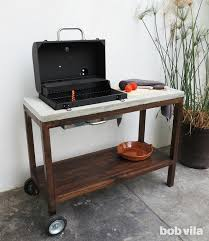 diy outdoor kitchen how to make a grill station bob vila regarding cart designs 12