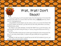 wait wait don t shoot a persuasive writing thanksgiving  a persuasive writing thanksgiving activity