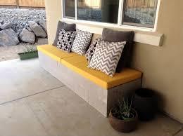 concrete patio benches