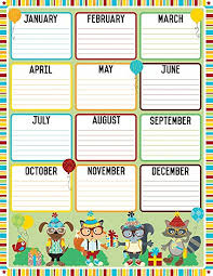Birthday Chart For Teachers Amazon Com Hipster Birthday Chart Office Products
