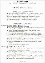 Admissions Officer Sample Resume Enchanting Resume For College Admissions Example Free Download
