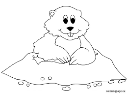 Small Picture Groundhog Day Coloring pages for kids
