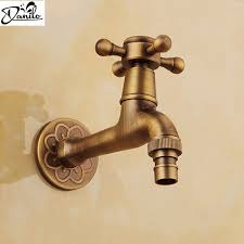 garden faucet. Luxury Decorative Outdoor Bibcock Garden Faucet Tap Antique Brass Finish Bathroom Wall Mount Washing Machine Water H