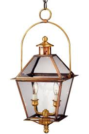 ina colonial hanging copper lantern with bail