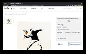 Bidding closes march 31 at 5 p.m. Coinbase To Handle Bitcoin And Ether For Sotheby S 3m Banksy Auction