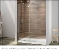 fleurco select monaco round top shower shield
