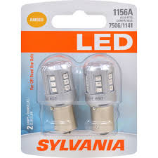 2 Pk Sylvania Led 1156 Amber Automotive Bulb Also Fits