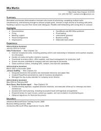 Administrative Sample Resume Administrative Assistant Resume Example