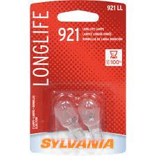 2 Pk Sylvania 921 W16w Long Life Automotive Light Bulb