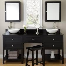black vanities for bathrooms. Bathroom. Black Wooden Vanity With Drawers And Shelves Plus White Bowl Sink Vanities For Bathrooms I