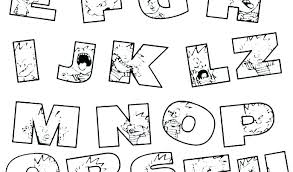 Alphabet Coloring Pages Printable Free Alphabet Coloring Pages A Z