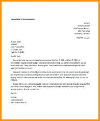 Recommendation Letter For Accountant – Visitlecce.info