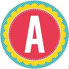 Full Alphabet Circle Banner Printables Free Download Birthday