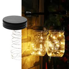 itimo mason jar insert led light string battery operated diy copper fairy strip wire night lamp outdoor garden party decoration led lights string exterior