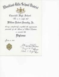 19850604 Churchill High School Diploma