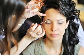 working as a makeup artist