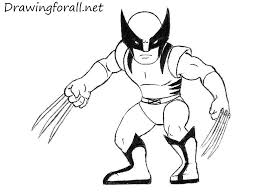 cartoon wolverine drawing