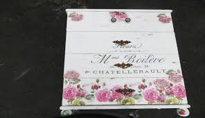 diy decoupage furniture. How To Decoupage Furniture A Dresser French Script Flowers Diy Y