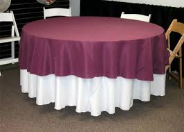 108 round linen with a 90 round overlay on a 60 round table