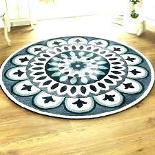 6 round rug area rugs home dazzle blue wool indoor 4 x with rubber backing