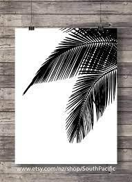 palm leaves graphic art print printable