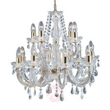 12 bulb marie therese chandelier brass 8570420 01