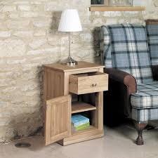 image 1 showing mobel oak. baumhaus mobel oak one door drawer lamp table image 1 showing