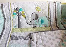 elephant baby comforter set