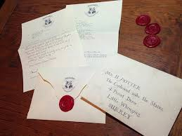 the completed hogwarts acceptance letter