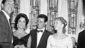 young debbie reynolds and elizabeth taylor. Modren Young Dean Martin Elizabeth Taylor Eddie Fisher And Debbie Reynolds From Left  To Right On Young Reynolds And Taylor I