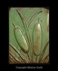Arts And Crafts Decorative Tiles Flint Faience Company Frame 100 Tile 100 Cattails Arts and 11