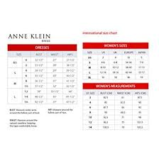 Anne Klein Womens Cotton Sateen Printed Double V Fit And Flare