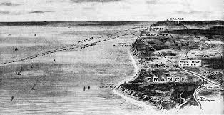 Image result for The tunnel runs between Folkestone, England, and Sangatte (near Calais), France