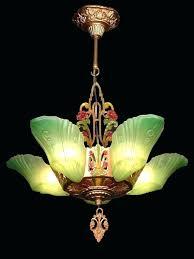 art deco ceiling lights antique art green glass 5 slip shade chandelier lights lamps antique art art deco