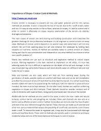 Importance Of Slopes Erosion Control Methods