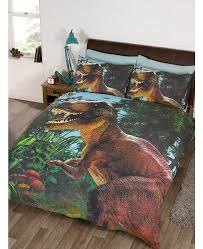 jurassic t rex dinosaur double duvet cover set exclusive design
