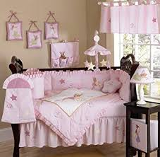 R Fairy Tale Fairies Pink Baby Girl Bedding 9pc Set
