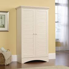 Large Rustic White Free Standing Linen Closet of Best Free ...