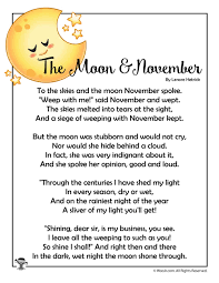 Poems About Shining Your Light The Moon November Poem Woo Jr Kids Activities