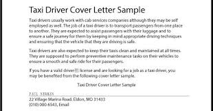 Taxi Driver Cover Letter Great Sample Resume Taxi Driver Cover