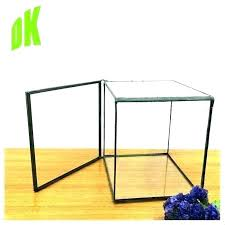 clear glass box jewelry display boxes home decor stained for crafts large go