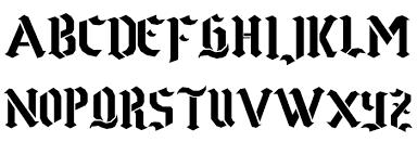 Number Stencil Font Goth Stencil Font Download Free Fonts Download