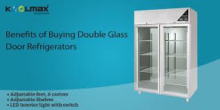 double glass door refrigerator