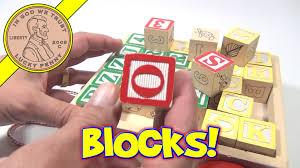 melissa doug classic abc 123 wooden block cart 30 baby block set