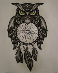Mens Dream Catcher Tattoo 100 Owl Tattoos Collection For Men 99