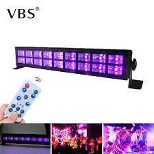 Black Light With Remote Us 33 38 43 Off 27w 54w Uv Led Black Light Bar Party Lamp With Remote Control Stage Lighting Effect Disco Light Christmas Home Party Decoration In