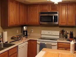 color kitchen floor with light oak cabinets image