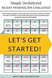 30 day minimalism challenge to simplify