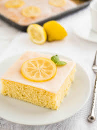Easy Lemon Sheet Cake Recipe Plated Cravings